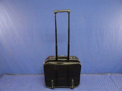 Black Rolling Laptop Luggage Briefcase Travel Bag K44