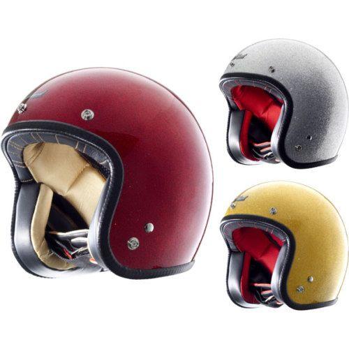 Rockhard Vintage Harley Open Face Street Bike Motorcycle Half Helmet