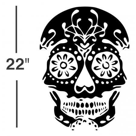 SUGAR SKULL VINYL DECAL sticker gothic window wall art day of the dead