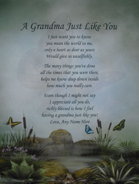 Grandma like you personalized poem birthday christmas or for What to get grandma for mother s day
