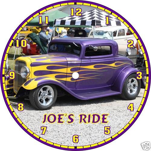 Ford Chevy Coupe Rat Rod Muscle Car Clock Your Photo