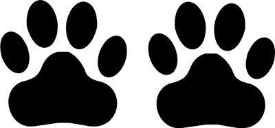 2x Dog Cat Paw Print Tracks Sticker Vinyl Window Laptop