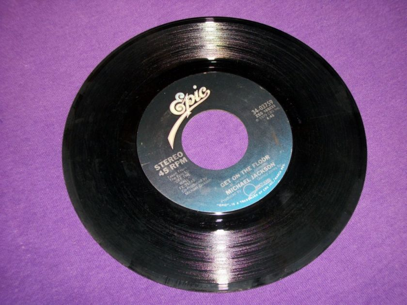 Michael Jackson Beat It   Get Out On The Floor Rare 7 Vinyl 45 Record